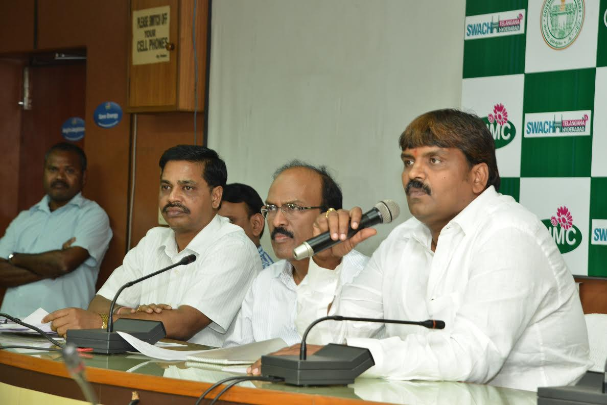 points discussed in the press meet by H.W.Mayor & Commissioner, GHMC