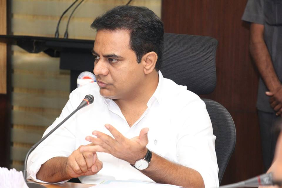 Save water, KTR tells people