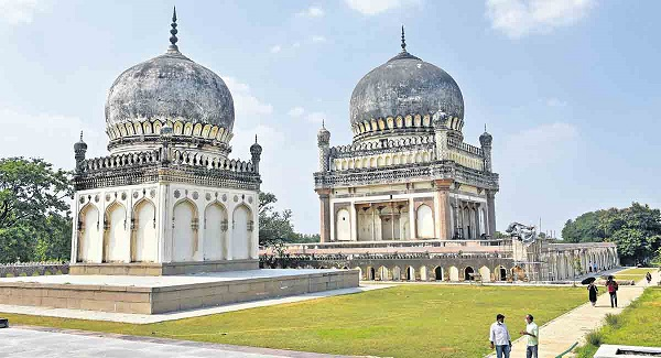 Restoration work at the Qutb Shahi Tombs is in full swing