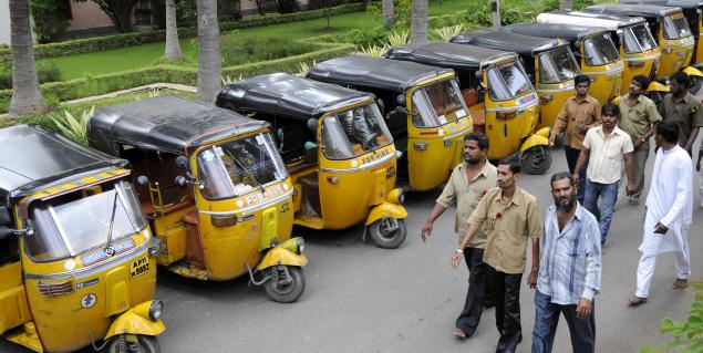 Autos bandh from midnight in city