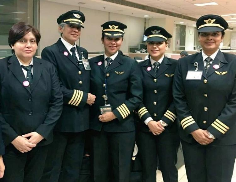 All-women crew in Air India flights today