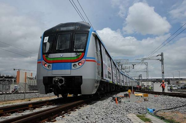Metro train frequency increased to every four minutes on the Ameerpet-Hitech City route