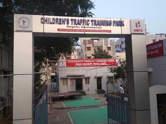 Traffic Park for children in Rachakonda