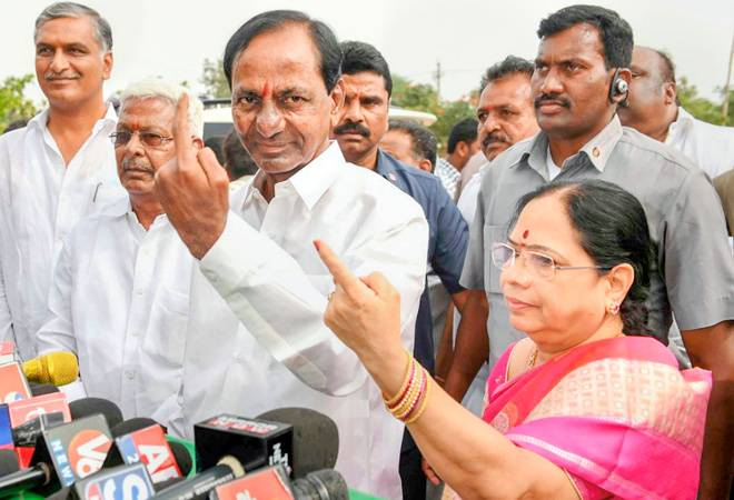 Exit polls predict return of KCR