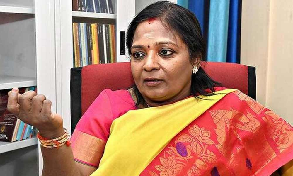 New Governor Tamilisai to take oath on Sunday
