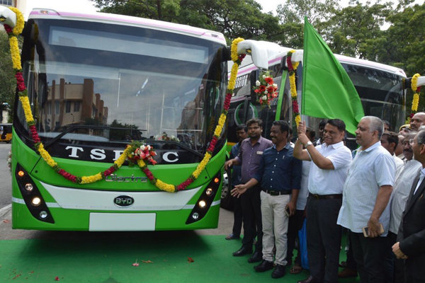 Electric buses deploys in Hyderabad