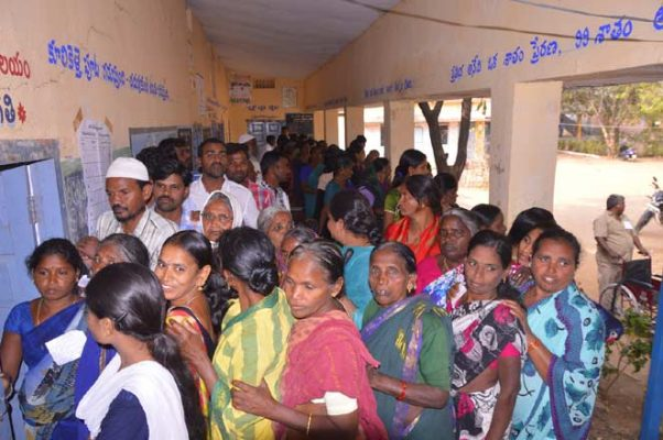 Polling peaceful in Nizamabad, Kamareddy