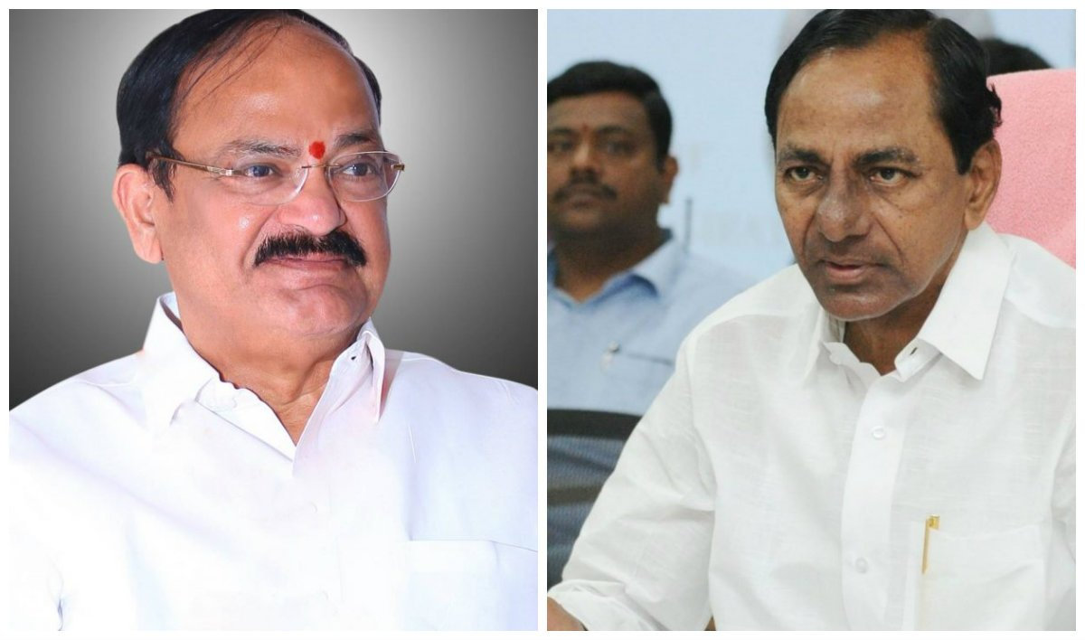 CM KCR conveys birthday greetings to Vice President Venkaiah Naidu