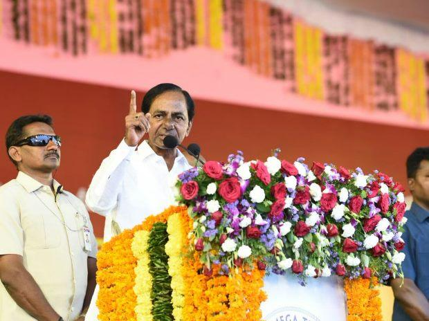 CM KCR lays stone for Kakatiya Textile Park