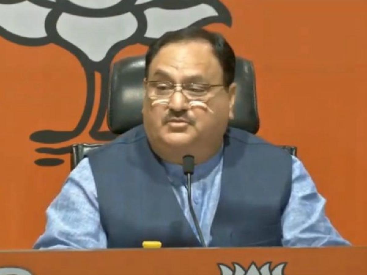 Telangana: JP Nadda holds door-to-door campaign for BJP