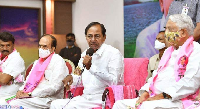CM KCR advises the people of Hyderabad to be careful in choosing the party to rule the city for next five years