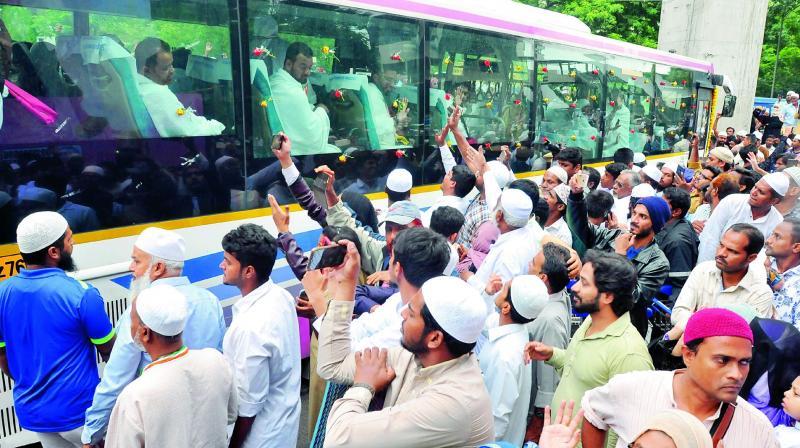 TS Haj pilgrims leaves for Saudi Arabia