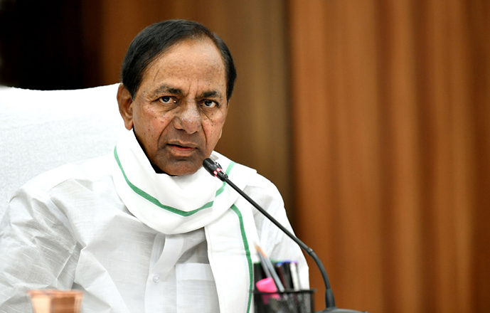 CM KCR says that the Godavari waters reach ayacut areas faster than the areas under the Krishna
