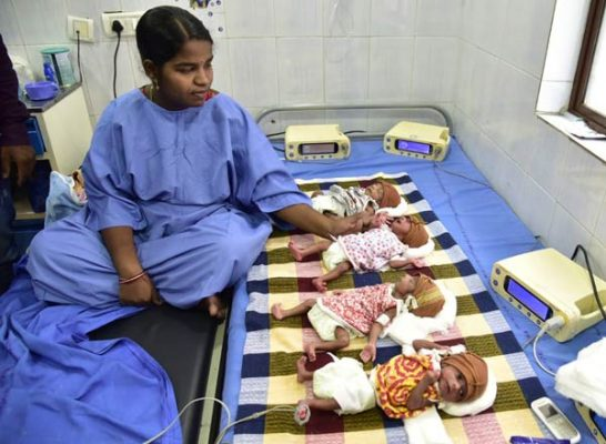 Hyderabad woman gives birth to quadruplets