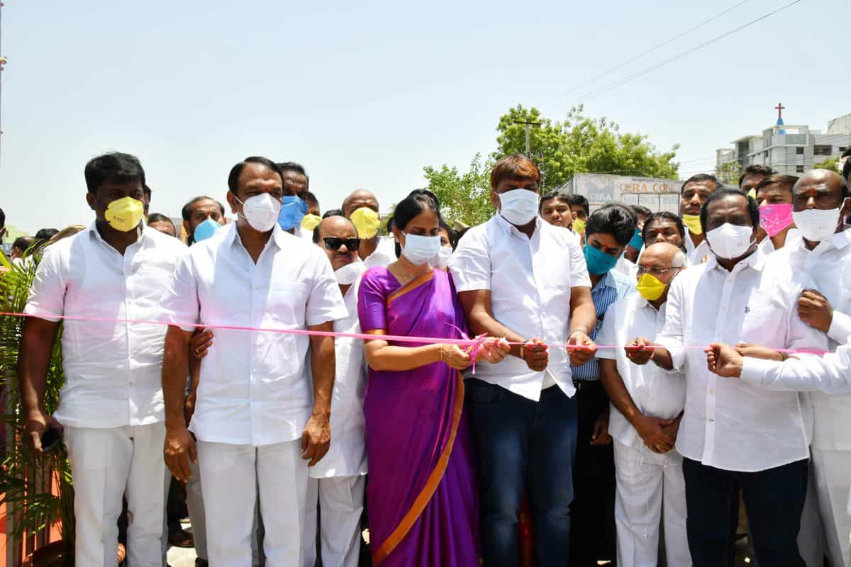 psabitharedddyinaugurateslbnagarunderpass