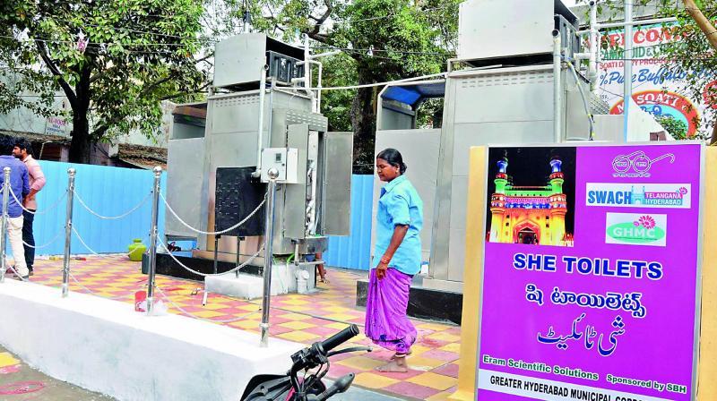 GHMC inititates Pink Toilet for women