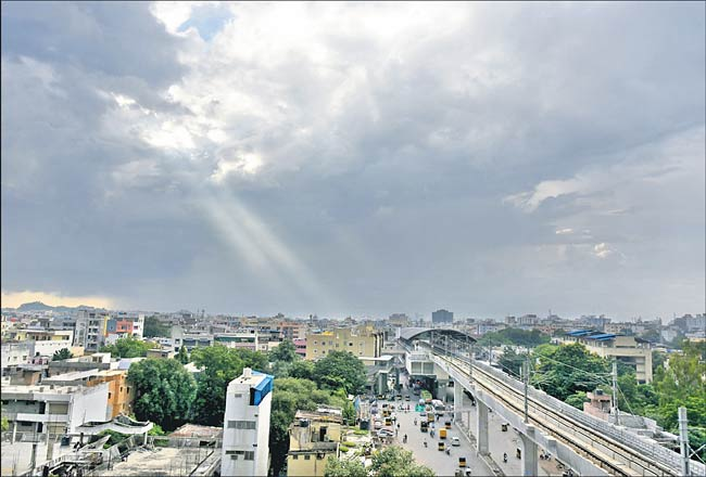 Day temperature drops by at least five degrees Celsius in Hyderabad