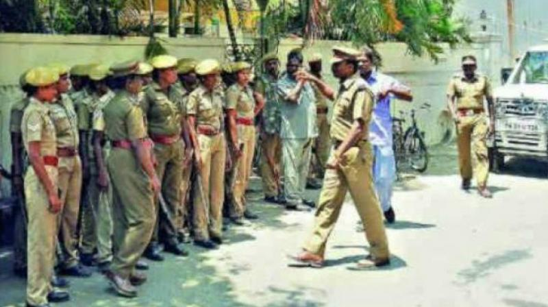 Police deployed across Hyderabad after flash protest alert