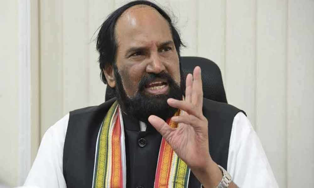KCR must resign if AP goes ahead with pothyreddypadu exapansion: Uttam Kumar Reddy