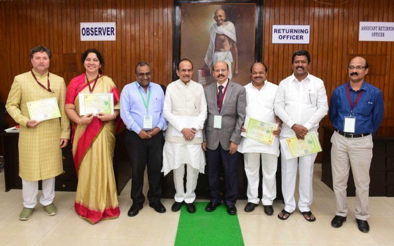 Newly elected MLCs take oath