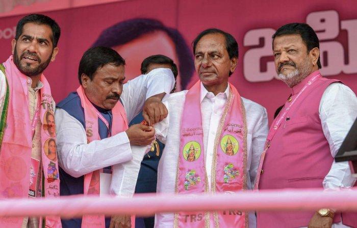 Telangana Rashtra Samithi has 100 MLAs