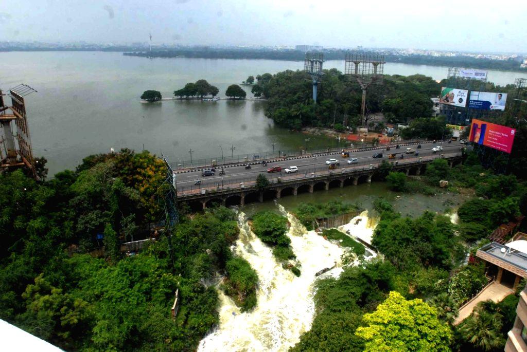 Water released from Hussain Sagar Lake
