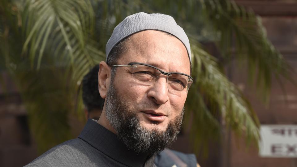 AIMIM president Asaduddin Owaisi  lays the foundation stone in Ghansi Bazar Division