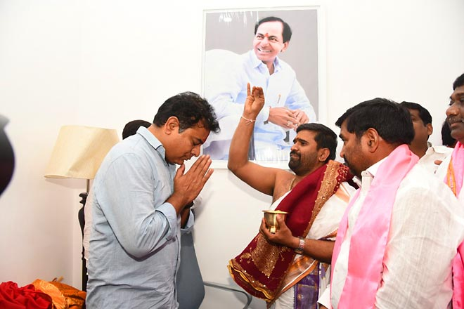 KTR takes charge as TRS Working President