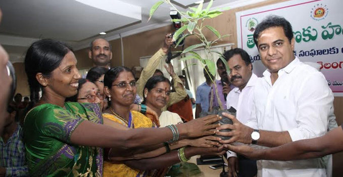 KTR launches Haritha Haram in Hyderabad