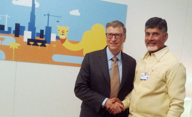 Bill Gates accorded grand welcome on arrival in Vizag