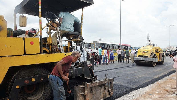 GHMC will lay plastic road in Uppal, Hyderabad