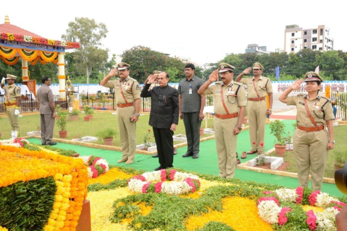 Home Minister Mohd.Mahmood Ali participates in the Police Commemoration Day