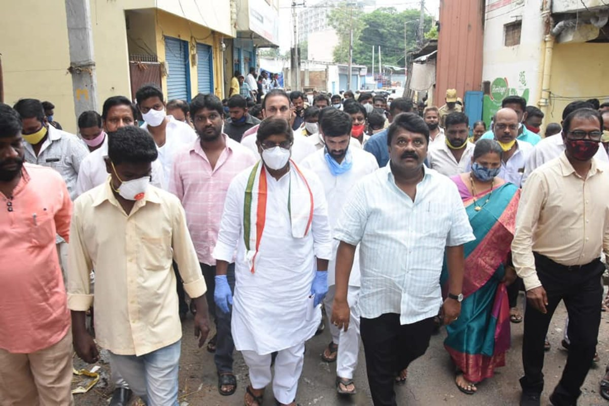 Talasani, Congress leaders visits 2BHK houses
