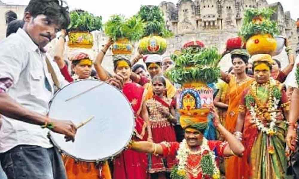 Bonalu fest kick off in Hyderabad