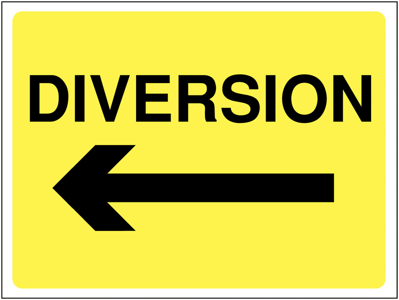 Traffic diversions due to construction of the elevated corridor
