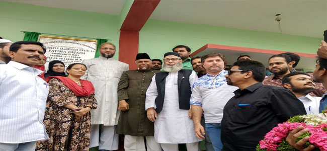 Asaduddin Owaisi launches various development work in Dabeerpura division