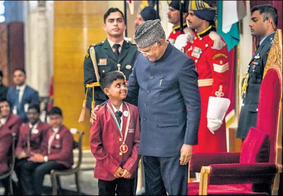 Two Hyderabad kids receive Bal Shakti Puraskar