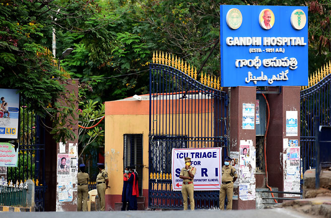 Security beefed up at Gandhi Hospital