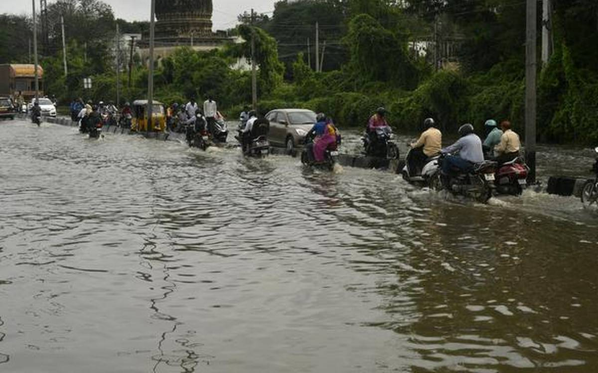 Another spell of heavy rain records in Hyderabad