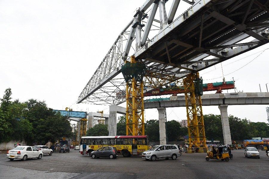Traffic restrictions for Metro Rail work at Musheerabad Crossroads