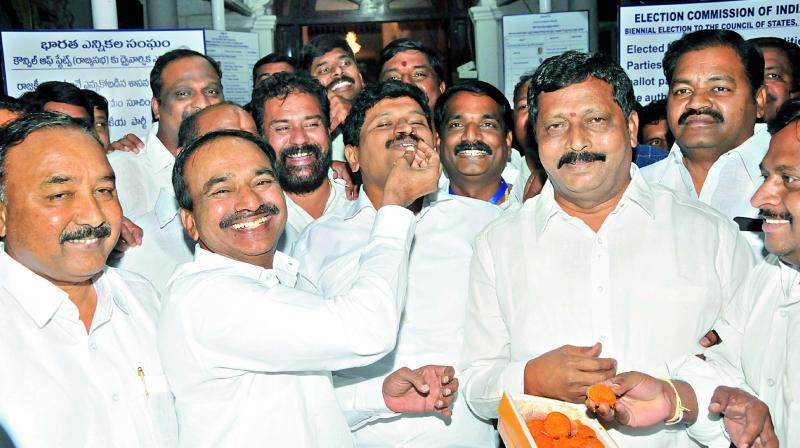 TRS bags all 3 seats in Rajya Sabha polls