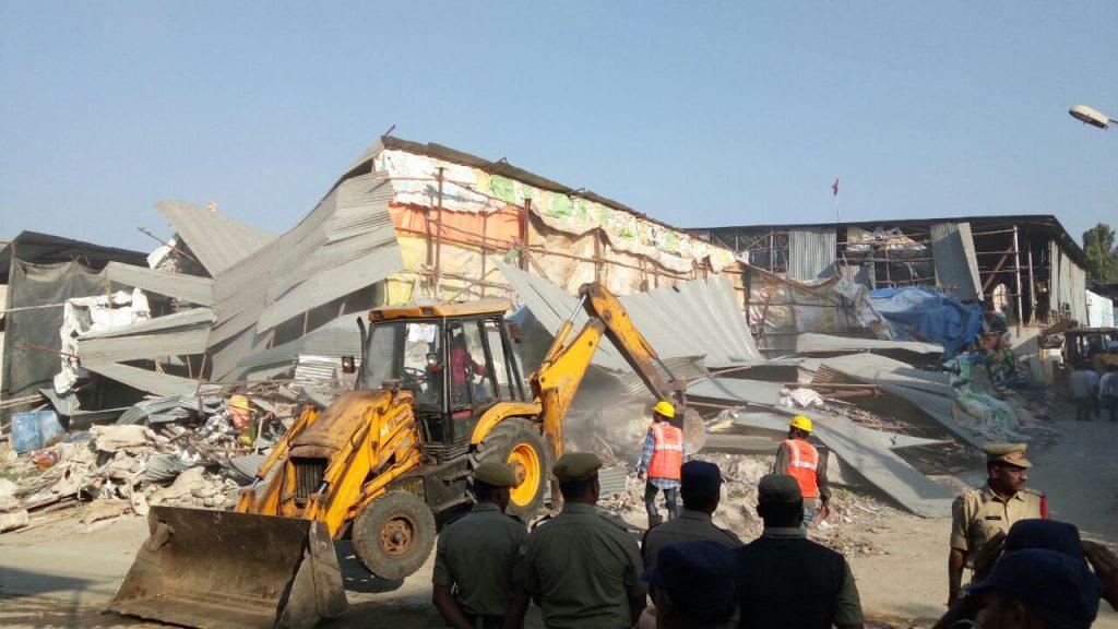 GHMC demolished nine structures