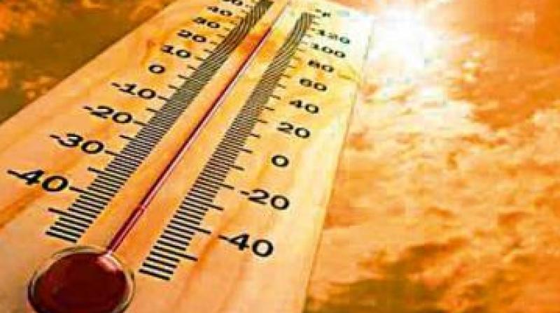 Highest temperature records at Nalgonda with 46.4 degree Celsius