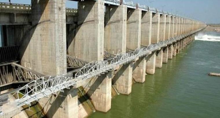 Jurala project nearing Full Reservoir Level