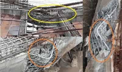 Under construction bridge collapsed in Vemulawada