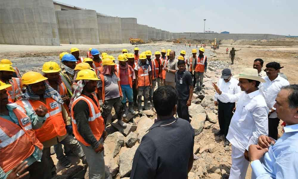 KCR sets June deadline for Kaleshwaram trial run