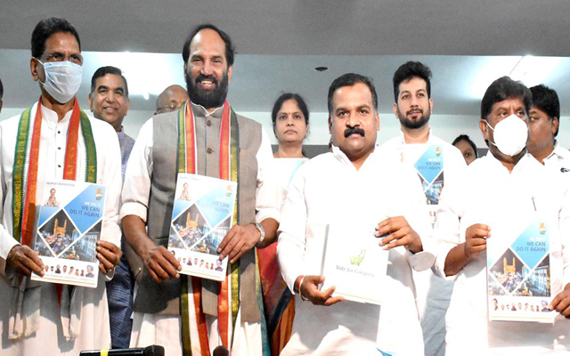 Congress releases party manifesto, promises Rs.50,000 for flood relief