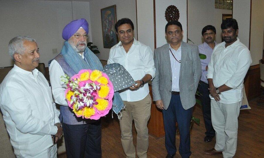 ktr-invites-union-minister-hardeep-singh-puri-for-metro-train-launch