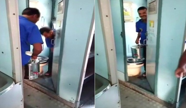 Tea and coffee vendors in trains make use of water from the toilets video goes viral