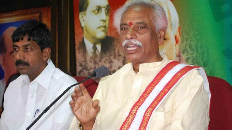 TRS govt aligned with AIMIM, hence not acting against Islamic terrorists: Bandaru Dattatreya
